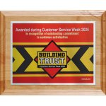 Choice of Digi-Color Plate on Deluxe Board Square Rectangle Awards