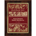 Simplicity Plate on Walnut Finish Board Square Rectangle Awards