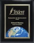 Ebony Finish Plaque with Themed Florentine Plate Square Rectangle Awards