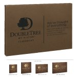 Leatherette Wall Sign -Dark Brown Square Rectangle Awards