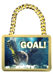 Champ Medal -Bright Gold Rectangle Square Rectangle Awards