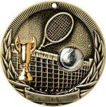 Tri-Colored Series Medals -Tennis Tri-Colored Medal Awards