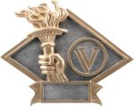 Victory - Diamond Plate Resin Trophy Victory Trophy Awards