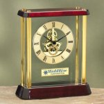 Glass with Exposed Gears Wood Metal Accent Awards