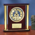 Large Clock with Exposed Gears Wood Metal Accent Awards