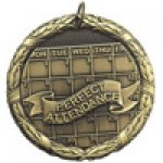 XR Medals -Perfect Attendance  XR Series Medal Awards